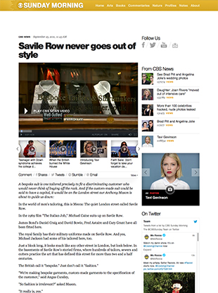 Savile Row never goes out of style – CBS News