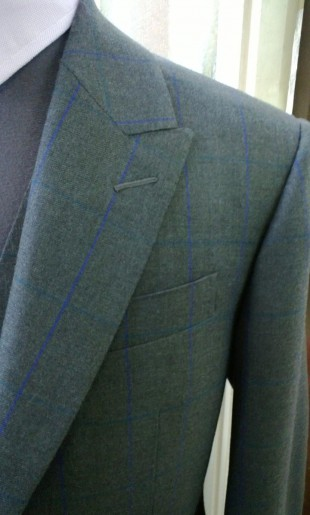 Checked Suit Peaked Lapel Detail