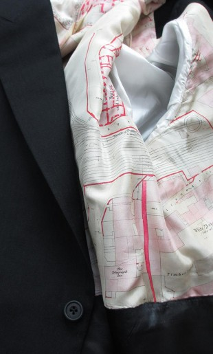 Morning Suit With Printed Map Lining