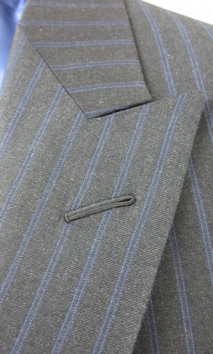 Stripe Suit Lapel Detail